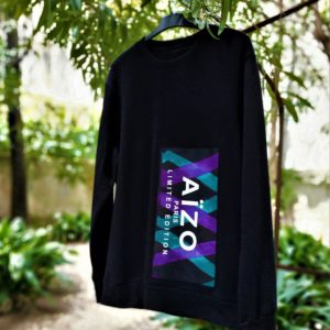 Sweat Black AÏZO PARIS Wax devant