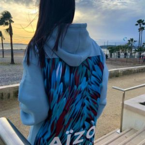 Hoodie Bleu ciel Feather Wax